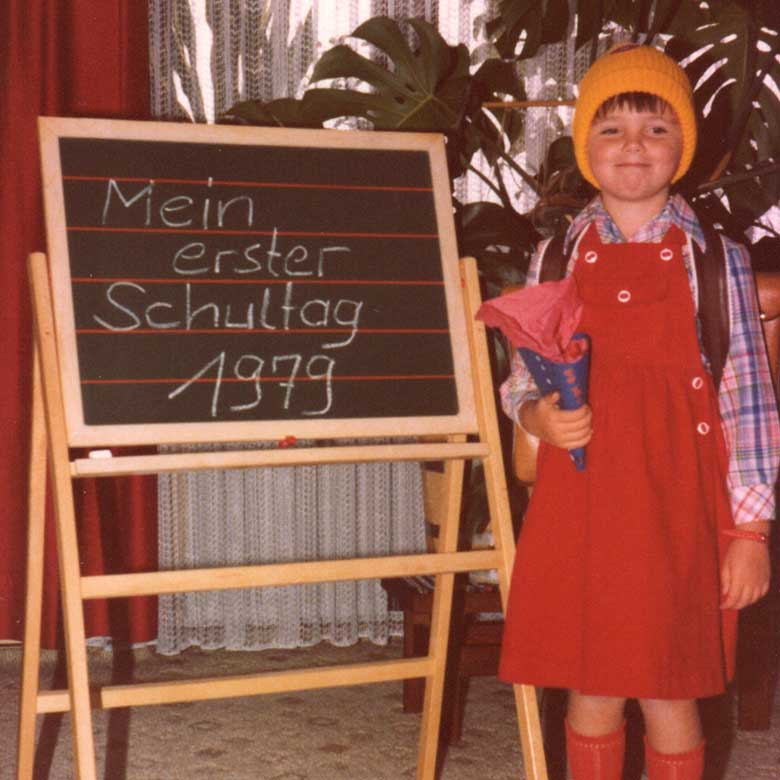 Beraterin mit Humor Christina Zehetner an ihrem ersten Schultag