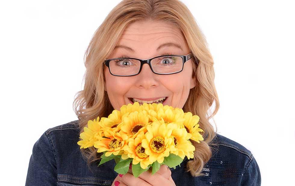 Familienberaterin Christina Zehetner bietet Beratung mit Spaß und Sonnenblumen-Taktik an